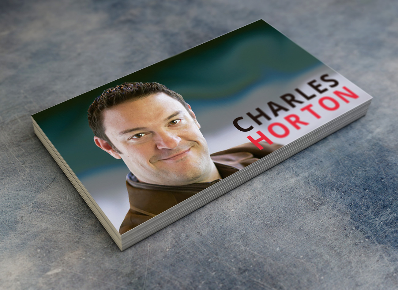 Charles Horton business cards branding material